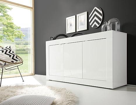 Credenza Moderna Fai Da Te : Montefiore design madia moderna ante bianco amazon casa e
