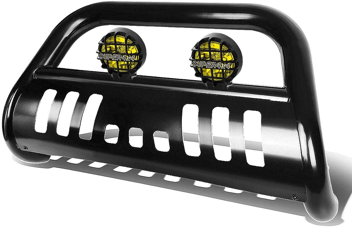 For Ford Super Duty 3rd Gen 3 inches Chrome Bull Bar+6 inches Chrome Housing Smoked Lens Fog Lights