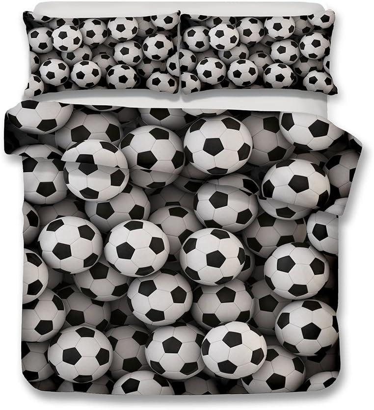 Juego de cama con estampado 3D de fútbol, poliéster, Ancla de pintura al óleo, suelto: Amazon.es: Hogar