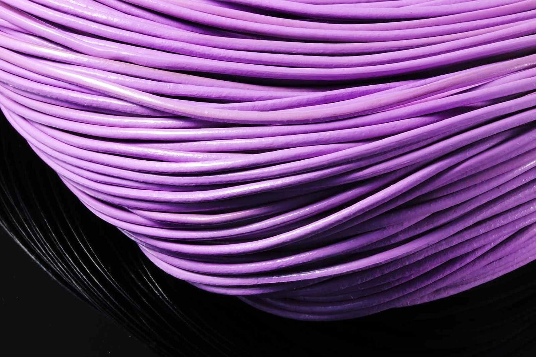 1mm - 5m, Fuchsia /Lederband /Ø 1//2//3 mm Lederriemen Rindsleder Echt Leder rund Lederschnur