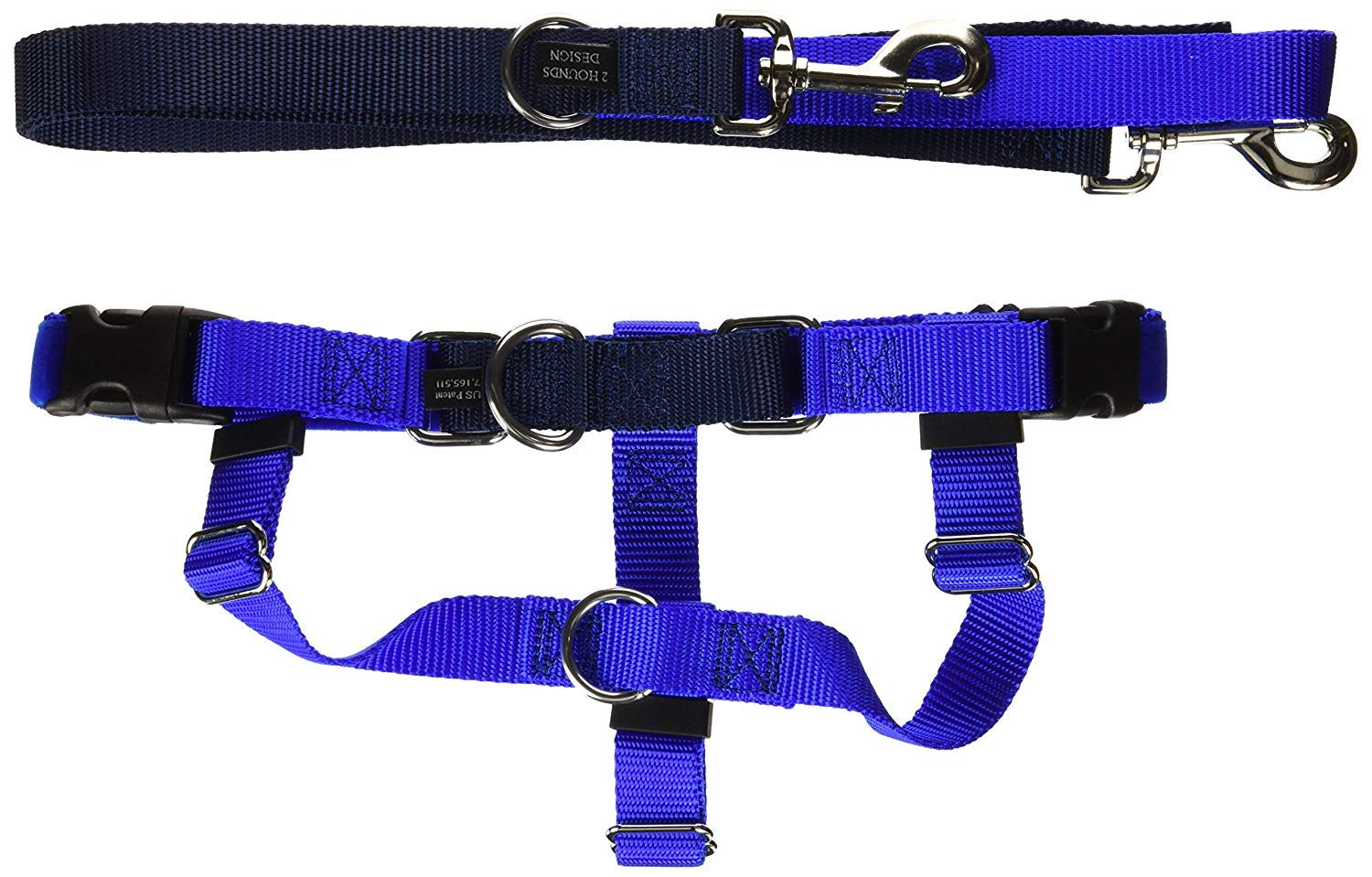 Freedom No-Pull Dog Harness Training Package, Royal Blue, XXL