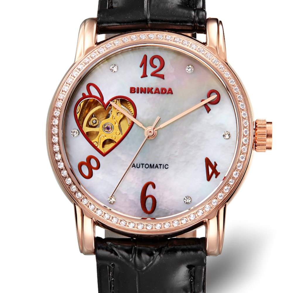 Ladies automatic mechanical watches/ fashion strap watch/ love cut waterproof women's table-G