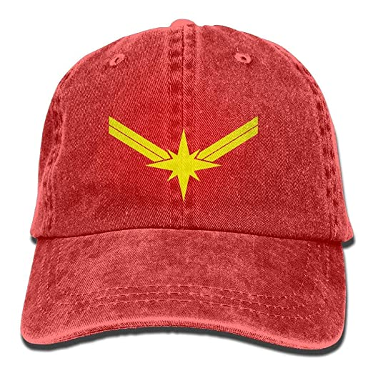 Image Unavailable. Image not available for. Color  Minimalist Captain Marvel  Denim Dad Cap Baseball Hat Adjustable ... 6f06eabb5817