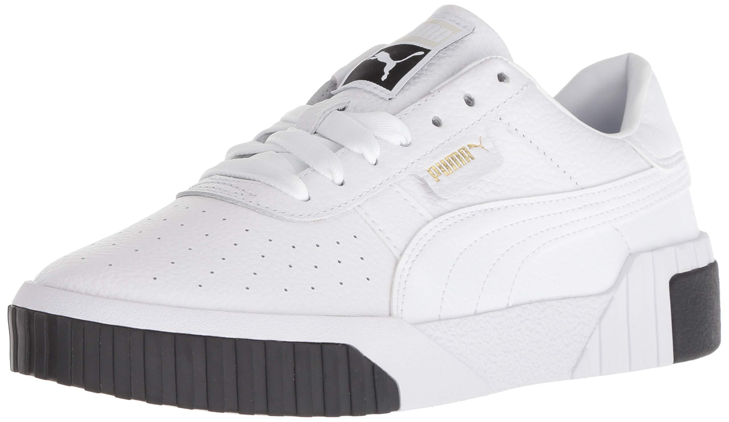 PUMA Women's CALI Sneaker White Black, 6 M US