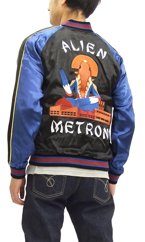 (花旅楽団) ウルトラマン スカジャン ULSJ-010 ウルトラセブン メトロン星人 メンズ スーベニアジャケット B07F2RYT23   M