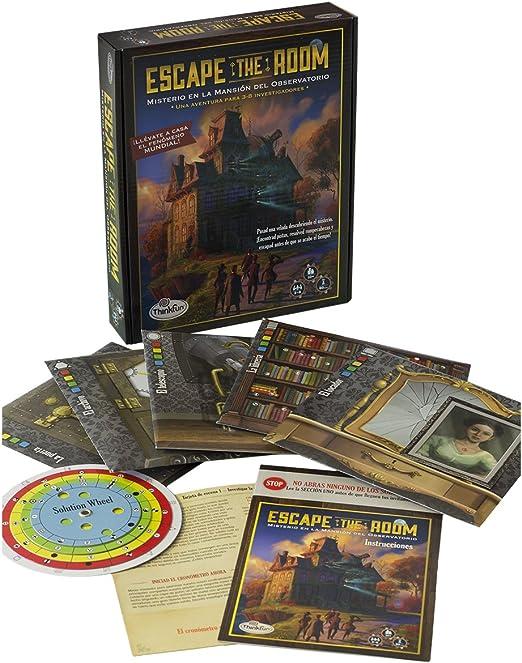 Think Fun - Escape The Room: Misterio en la mansión del observatorio (TF7351): Amazon.es: Juguetes y juegos