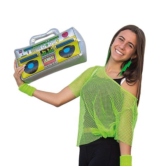Blue Banana Radio Cassette Ochentero Hinchable - Gris: Amazon.es ...