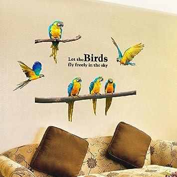 Amazon.com: SWORNA Nature Series SN-60 6 Macaw Parrot Vinyl ...