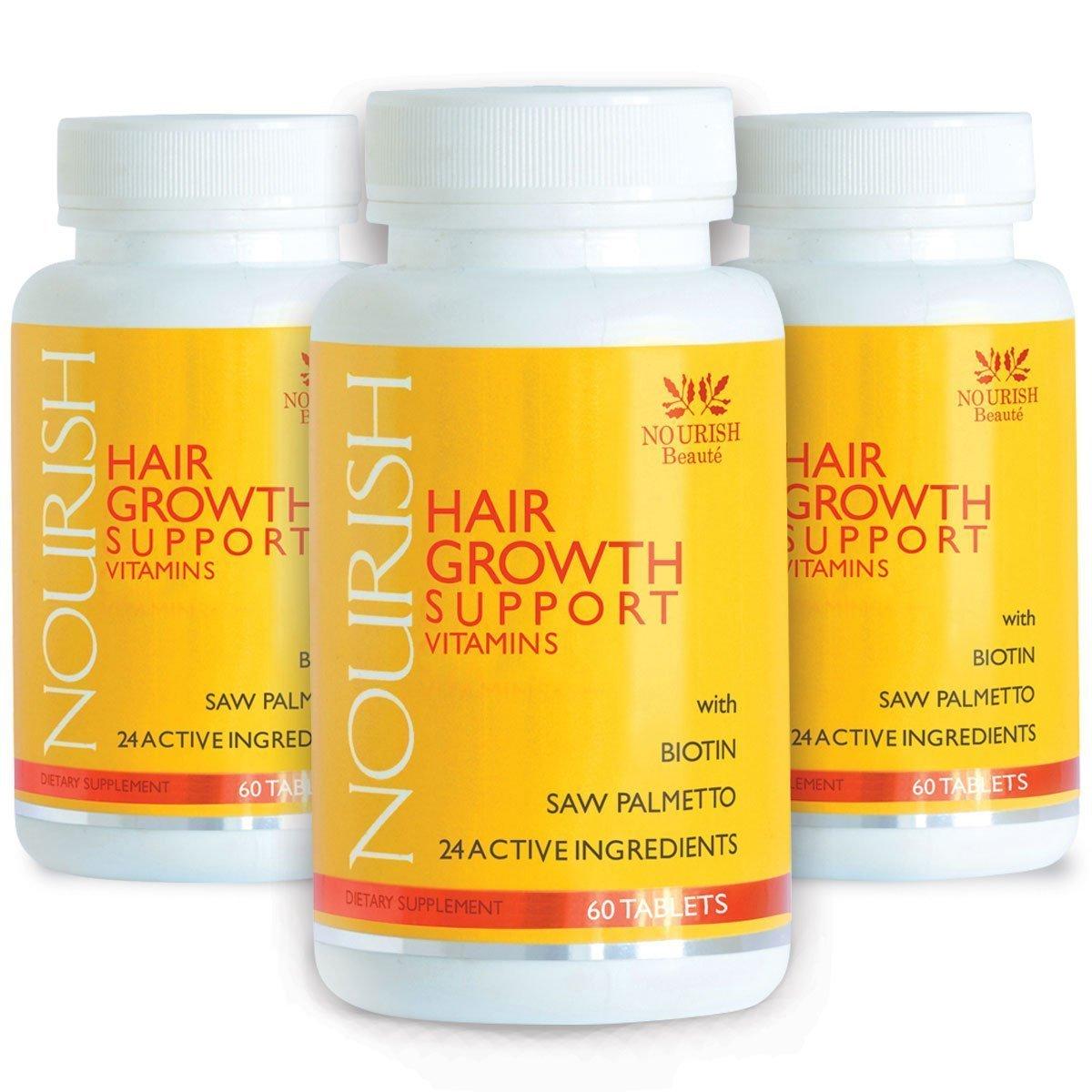 Nourish Beaute– Vitamine per nutrire la crescita dei capelli con biotina e bloccanti DHT- miglioramenti garantiti, meno perdita e pelle e unghie più belle NB-SUPPLEMENT-01-SINGLE