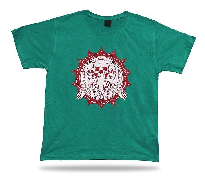 cf4c4111641 Tshirt Tee Shirt Birthday Gift Idea Open Wide Skull Scream Death Emblam  Dagger