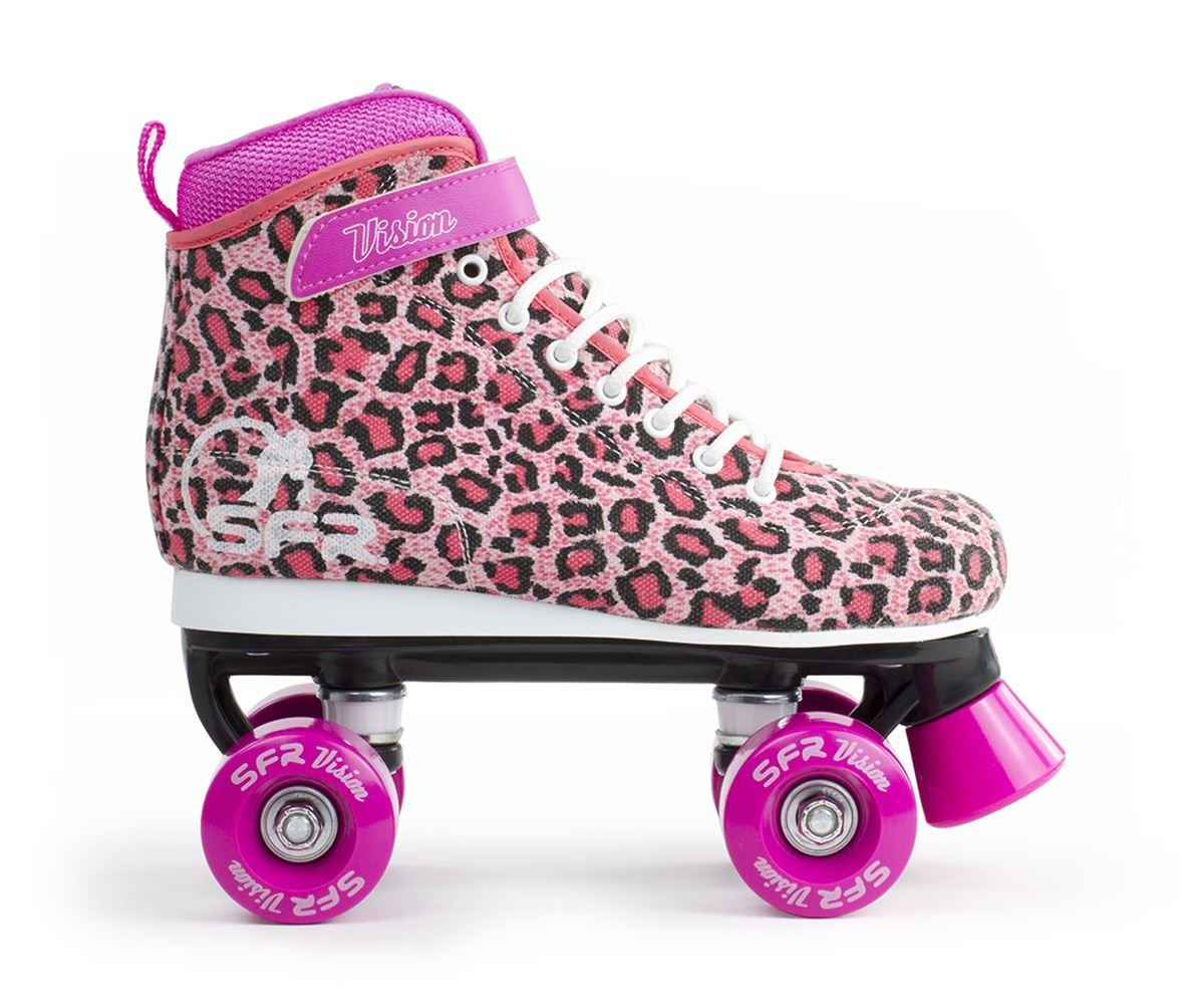 No Fear Kids Retro Quad Skates Girls Lace Up Wheeled Roller Shoes