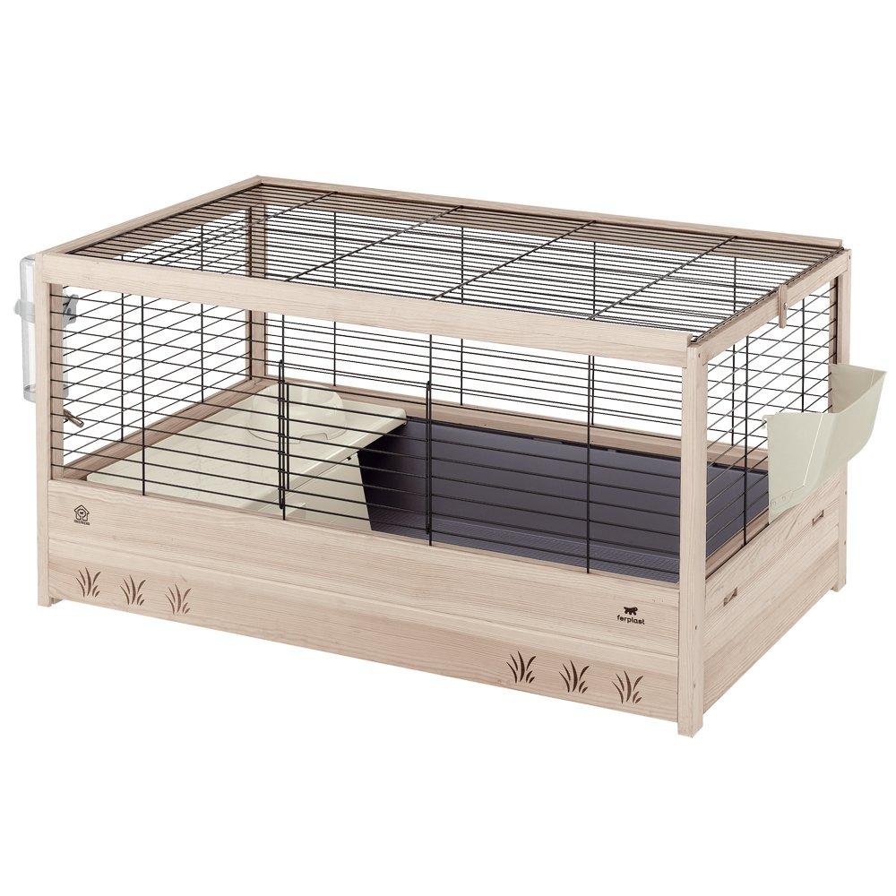 Ferplast Arena 100 Rabbit Habitat, Elegant Wooden Structure, Black by Ferplast (Image #1)