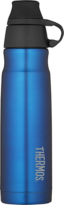 THERMOS Vacuum Insulated Stainless Steel Carbonated Beverage Bottle, 17-Ounce, Blue