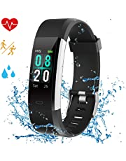 Airpro Montre Bracelet Connecté Intelligent Étanche IP68 Natation Podometre Smartwatch Cardiofréquencemètre Femme Enfant Fille Homme Smart Watch Sport Running Sommeil Course pour iOS/Android