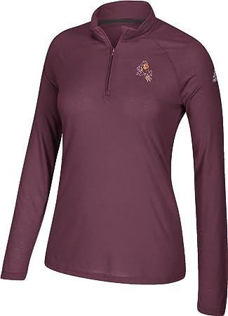 adidas de la mujer Arizona State Sun Devils Maroon Ultimate quarter-zip camiseta, Granate: Amazon.es: Deportes y aire libre