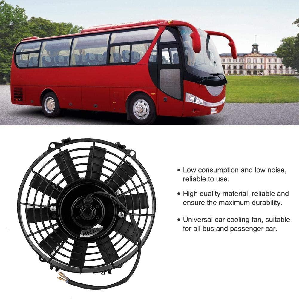 Ventola di raffreddamento 12V 24V 80W 9 pollici universale auto curvo condizionatore daria ventilatore condensatore elettrico di raffreddamento