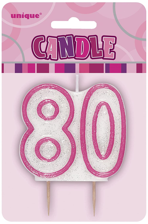 Unique Party 37920 Glitz Blue Number 0 Candle