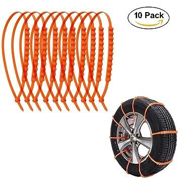 ZZM 10 PCS Cadenas de Nieve Llaves de Cable de Neumáticos, Cadenas de Neumáticos de
