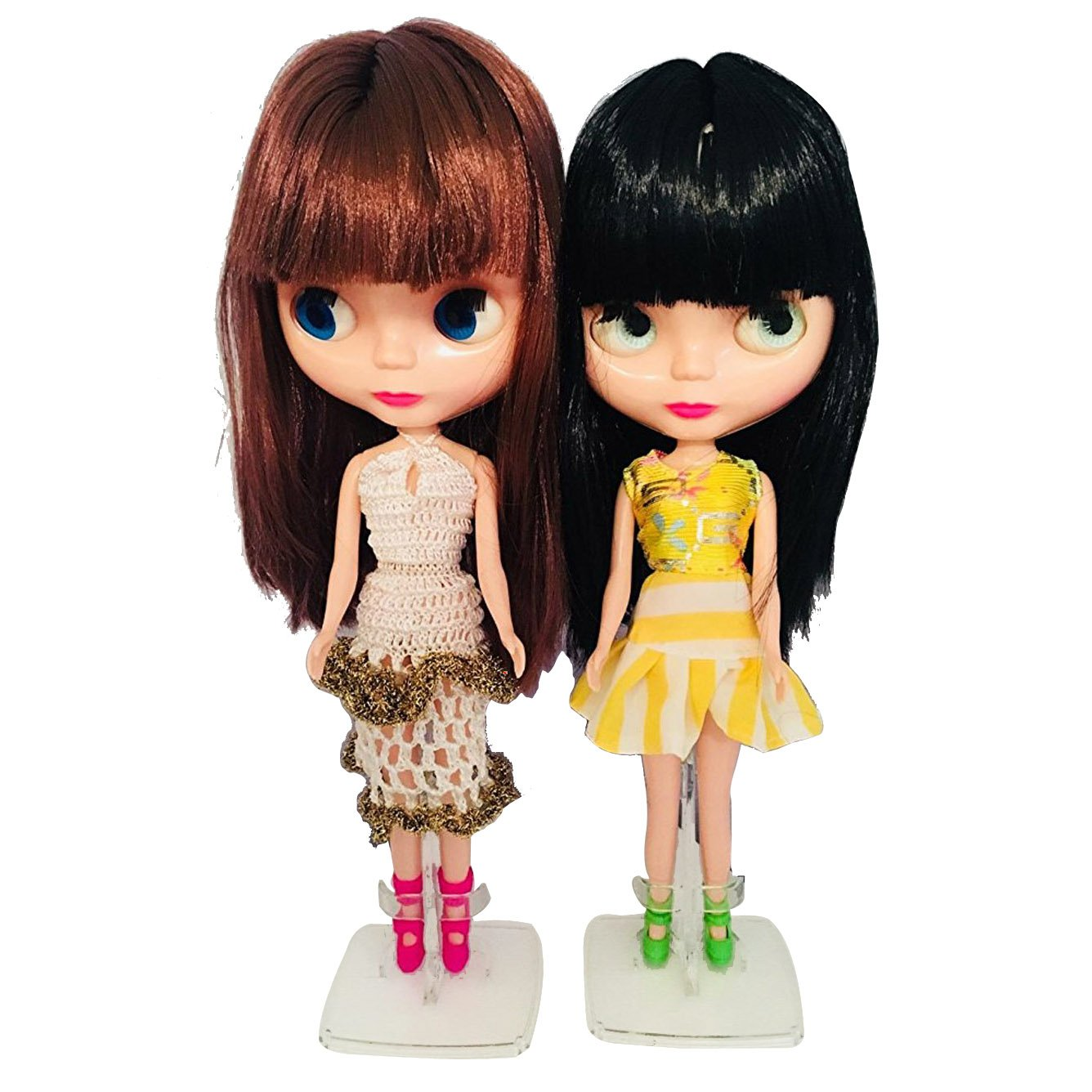 Amazon com big head dolls with hair12 inch anime dolls for girls4 eyes color changing as blyth style customize your doll clothing