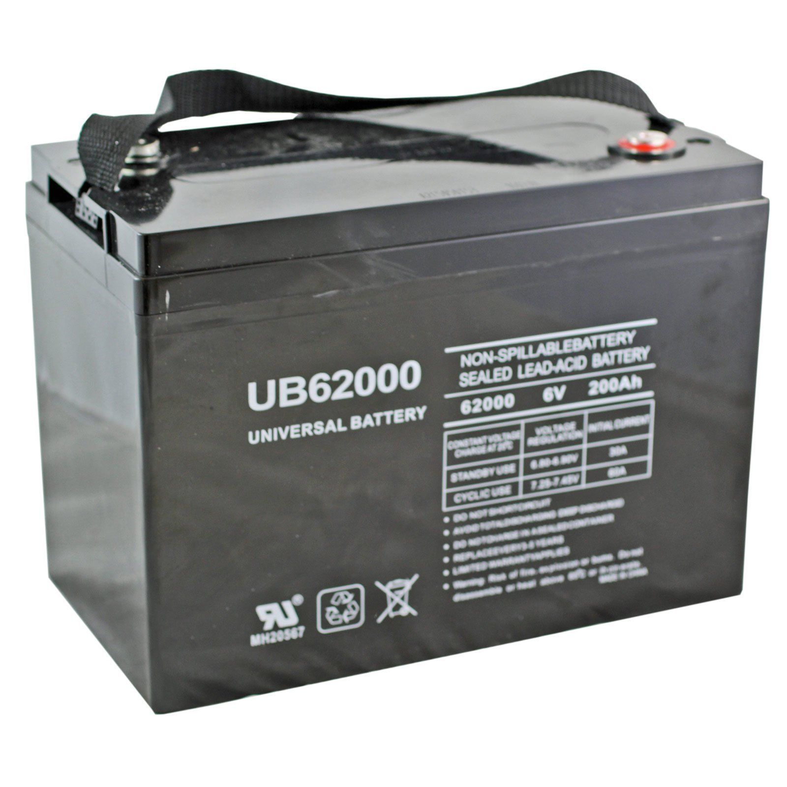 Replacement 6V 200Ah Battery for M83CHP06V27 RA6-200, UB6200, PS-62000 Pallet Jack Battery, Golf Cart Battery, Group 27