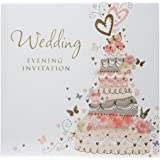 Pack of 36 Simon Elvin Wedding Evening Invitation Cards - Wedding Cake Design - DP267