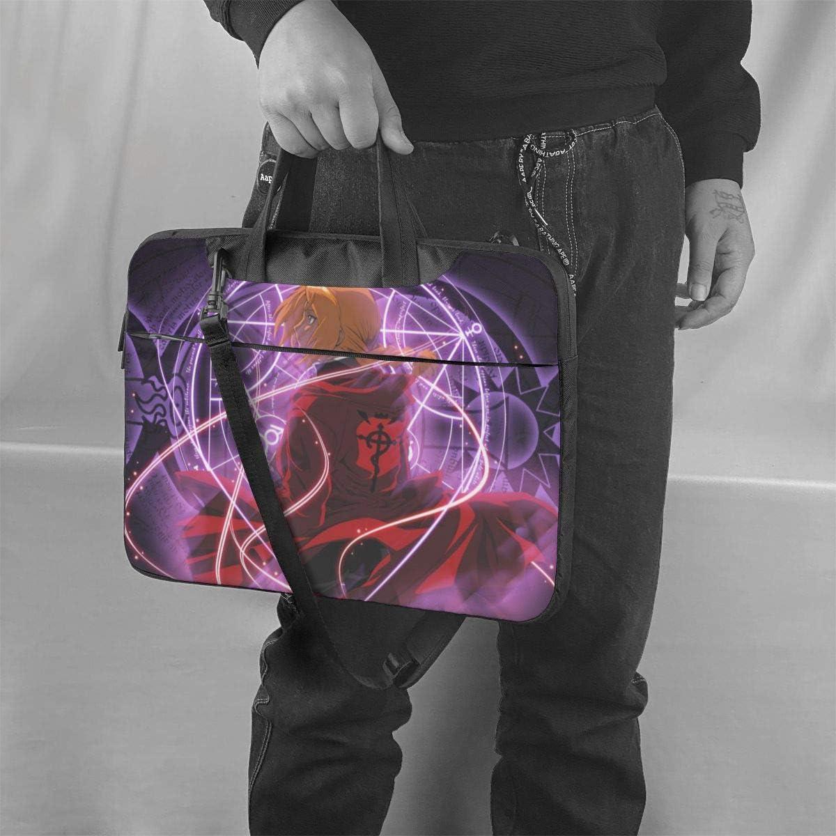 Anime Fullmetal Alchemist Laptop Bag Laptop Messenger Bag Laptop Shoulder Bags Polyester Messenger Carrying Briefcase Sleeve with Adjustable Depth at Bottom 14 inch