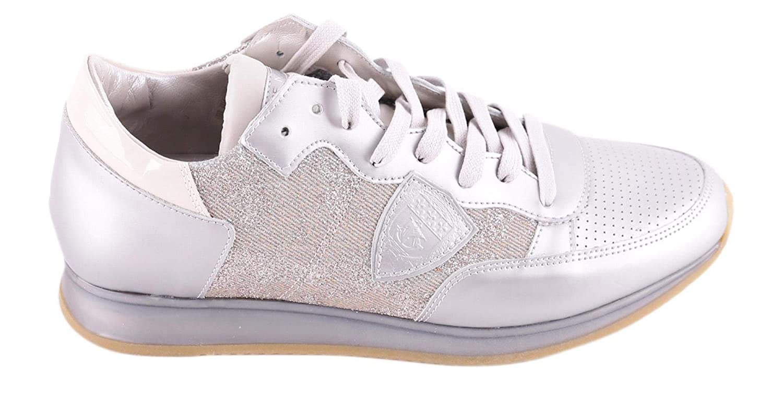 Philippe Model chaussures femmes paniers Mod Tropez in Pelle e e Tela Couleure Bianco TRLD MK01  2018 magasin