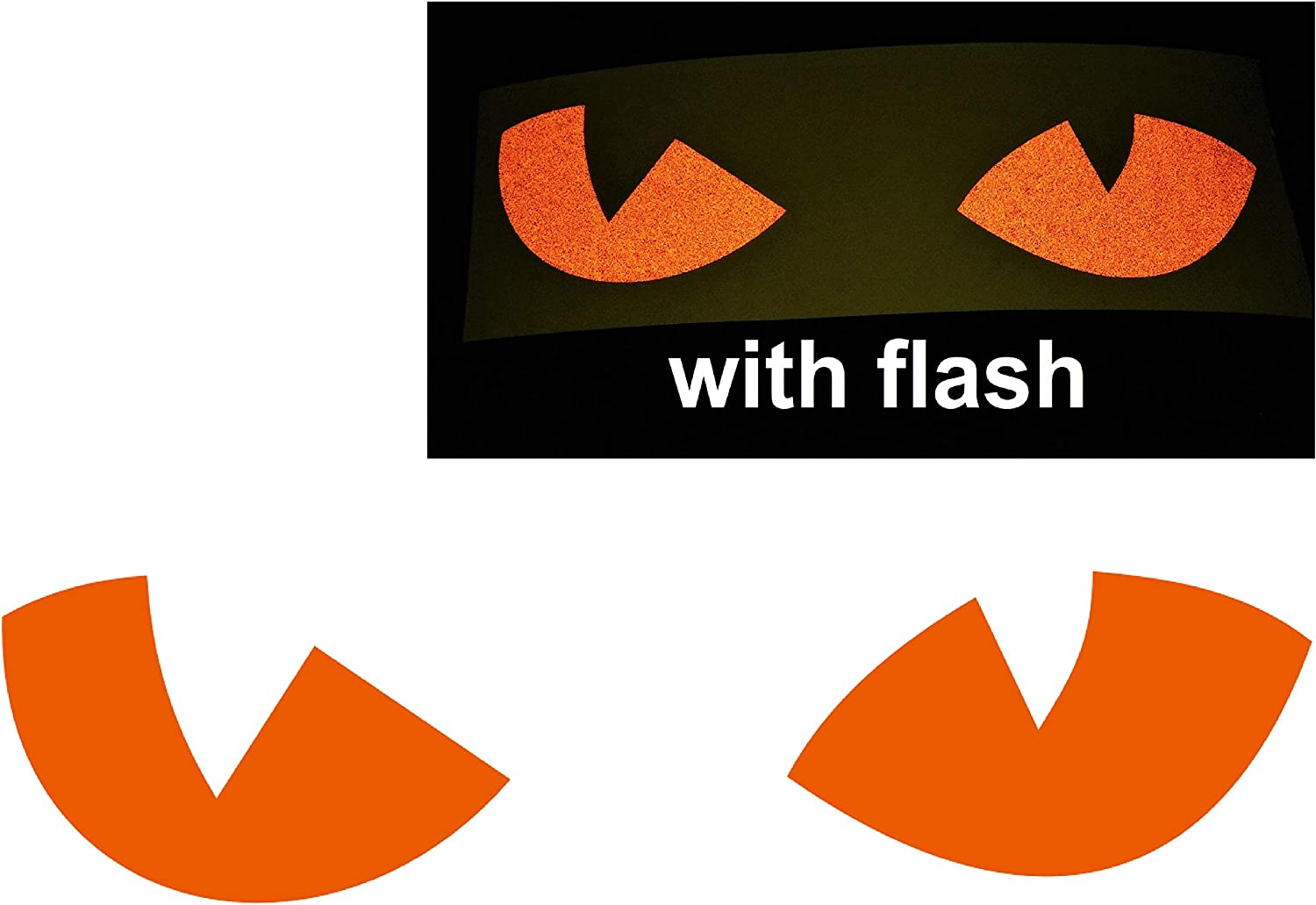 Orange Cat Eyes Decal Reflective Reflector Devil Demon Evil Tiger No Fear Sticker 6