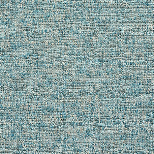 A0190Q Aqua and Tan Textured Woven Upholstery Fabric by The Yard