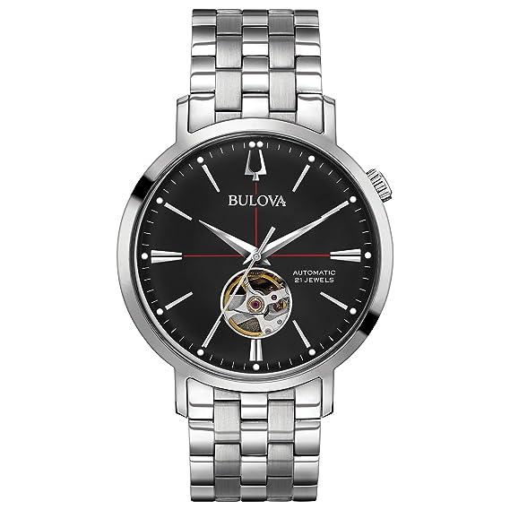 Bulova Hombres Clásico Automático de Acero Inoxidable Reloj ...