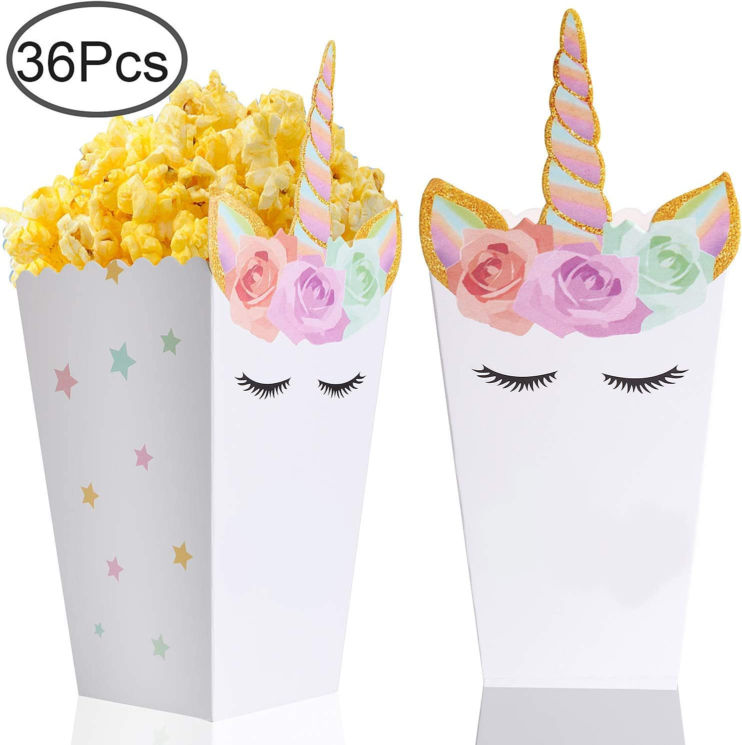 Unicorn Party Popcorn Boxes for 30 Guests and Up