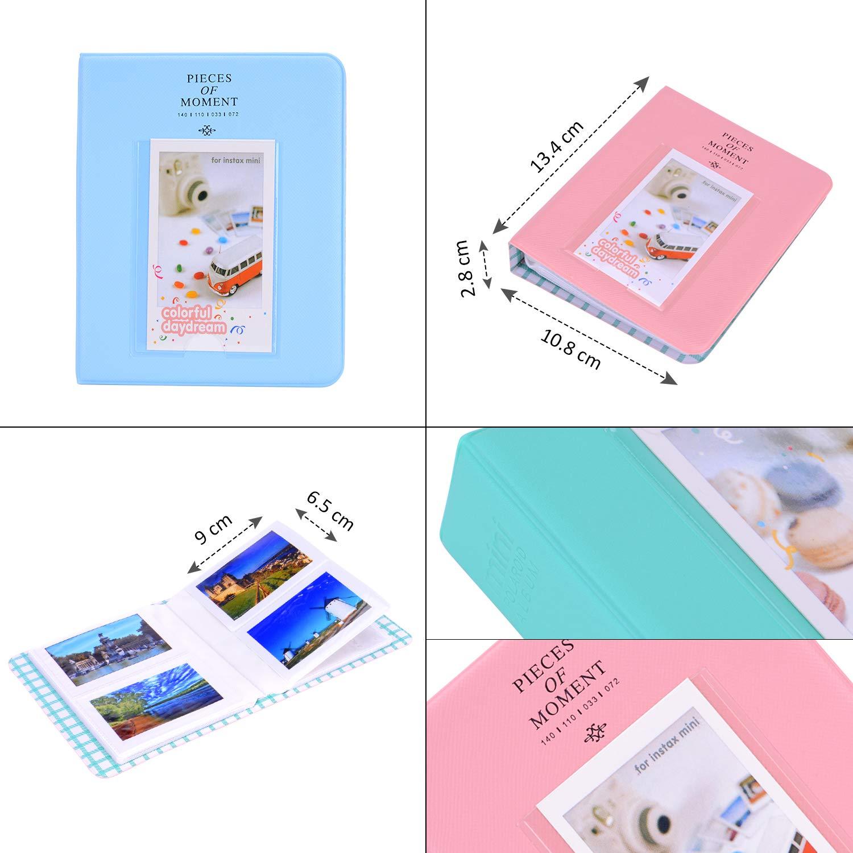 con Estuche Mini 9 Paquete de Accesorios para c/ámara Bsuuy Instax Mini 9 para FujiFilm Instax Mini 9 8 8 12 en 1 Color De Aceite /álbum//Lente Selfie//filtros//Pegatina de Camara