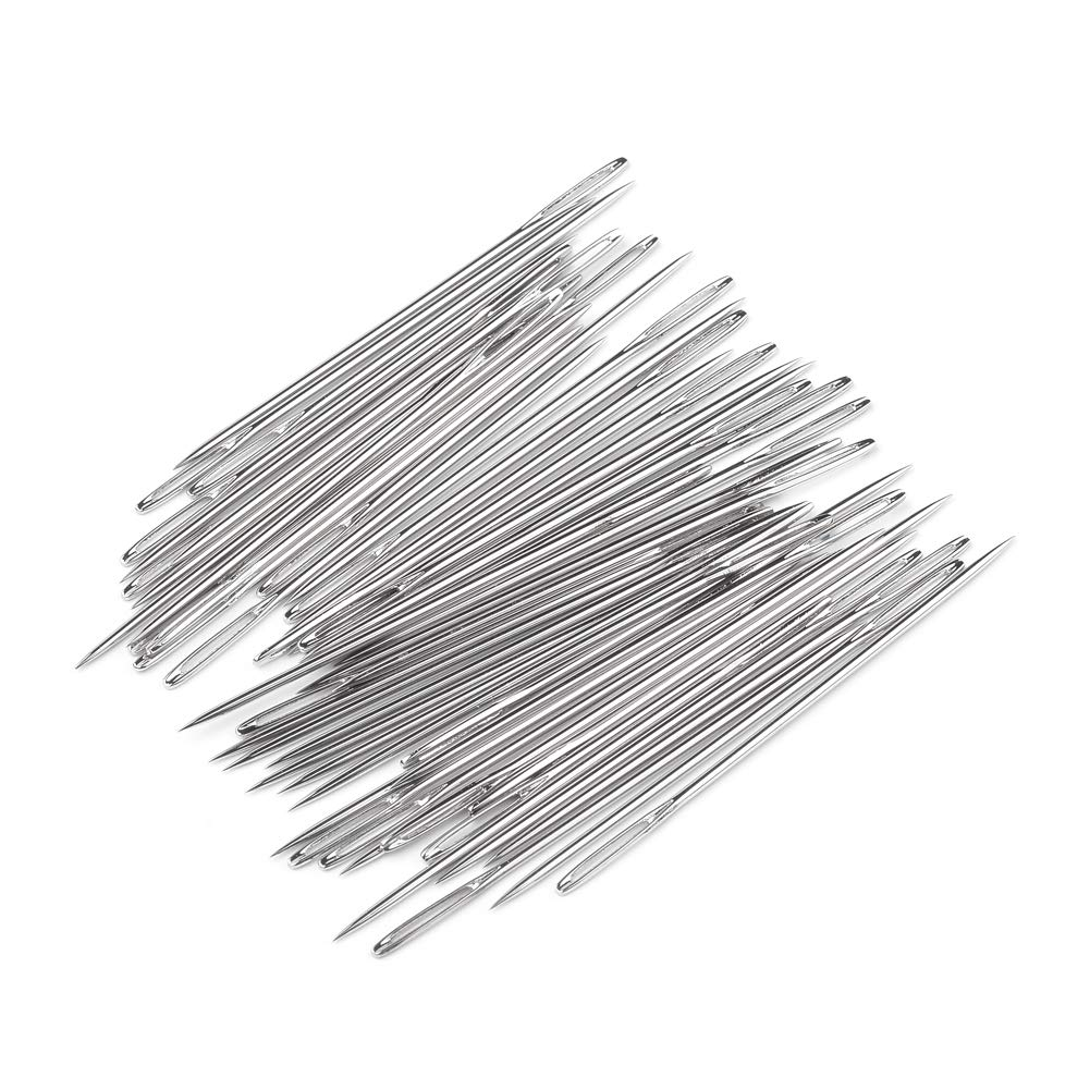 PH PandaHall 50-Cout Large Eye Tapestry Needles Blunt Needles Stitching Needles Darning Needles Finishing Needles Upholstery Sewing Tool for Sewing Repair Handmade Projects