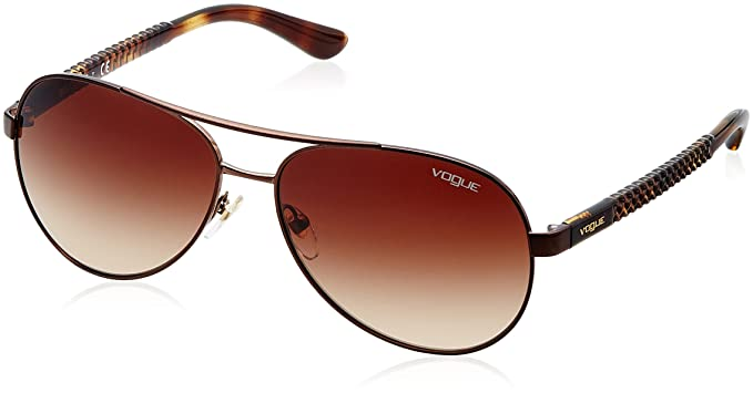 Vogue 0Vo3997S, Gafas de Sol para Mujer, Brushed Brown, 58