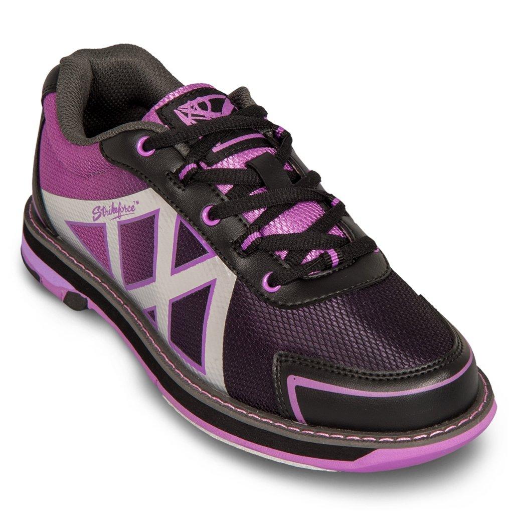 KR Strikeforce Womens Kross Bowling Shoes- Black/Purple KR Strikeforce Bowling Shoes