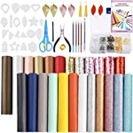 Pllieay 24 Pieces Leather Earring Making Kit Include Instructions, Cut Molds,