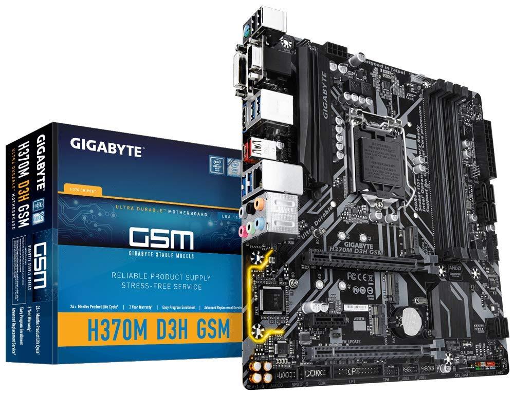 GIGABYTE H370M D3H GSM (LGA1151/Intel/Micro ATX/Hybrid Digit