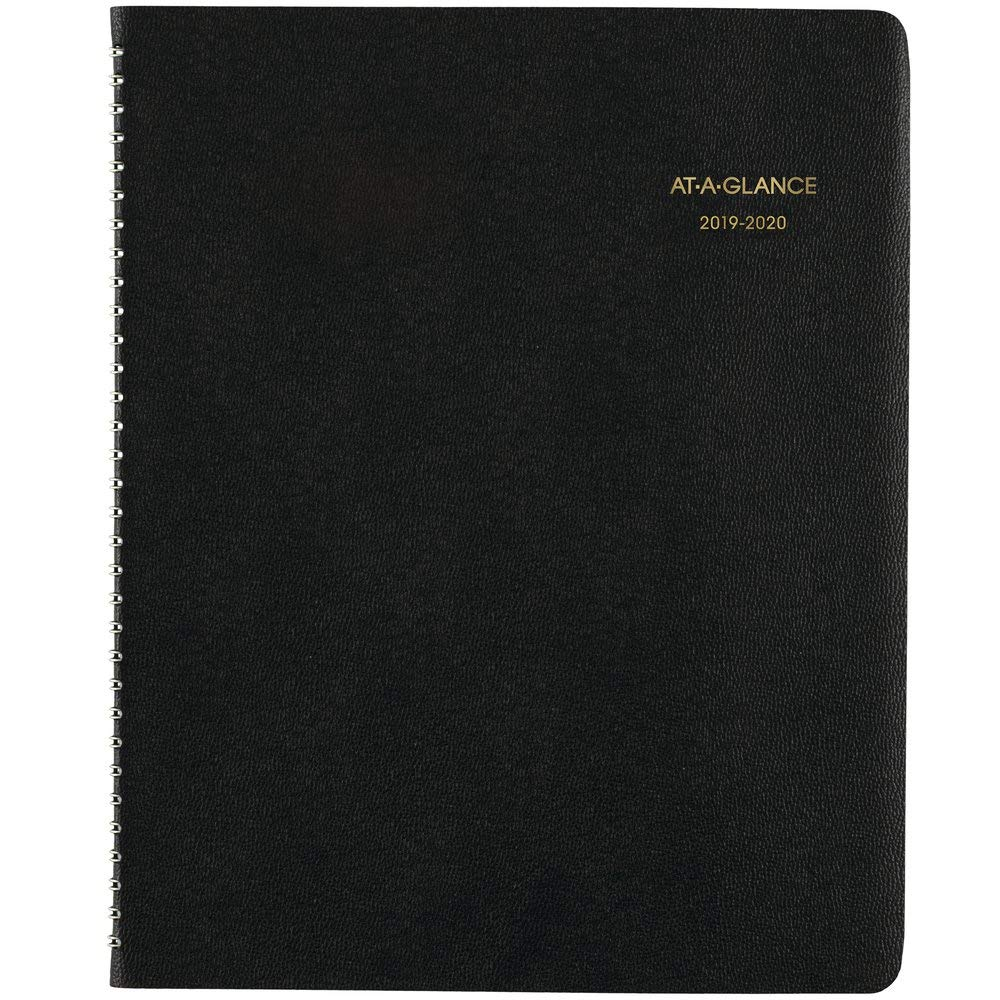 AT-A-GLANCE 2019-2020 Academic Year Monthly Planner, Large, 9'' x 11'', Black (7007405)