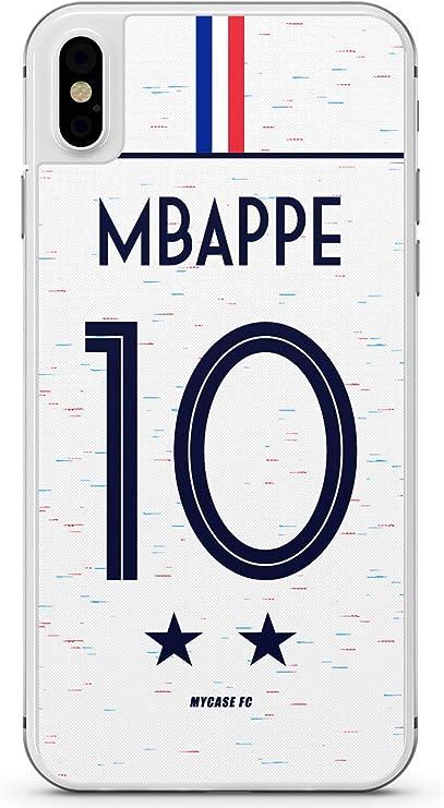 MYCASEFC Coque KYLIAN MBAPPE Equipe DE France 2 Etoiles Silicone (iPhone 7/8 Plus)