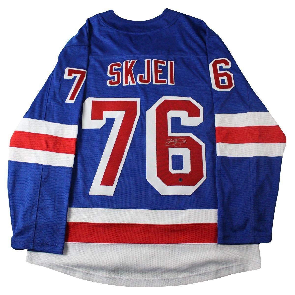 buy online 5d675 bbb45 Brady Skjei Signed New York Rangers Fanatic Blue Breakaway ...