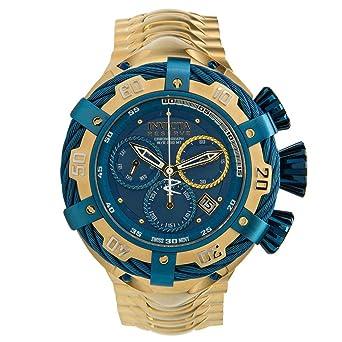 734da6ab6ab Amazon.com: Invicta Men's Bolt Gold-Tone Steel Bracelet & Case Swiss ...