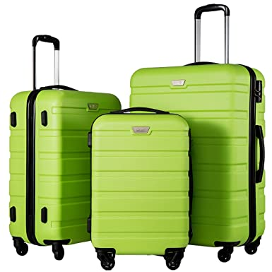 Amazon.com | Coolife Luggage 3 Piece Set Suitcase Spinner ...