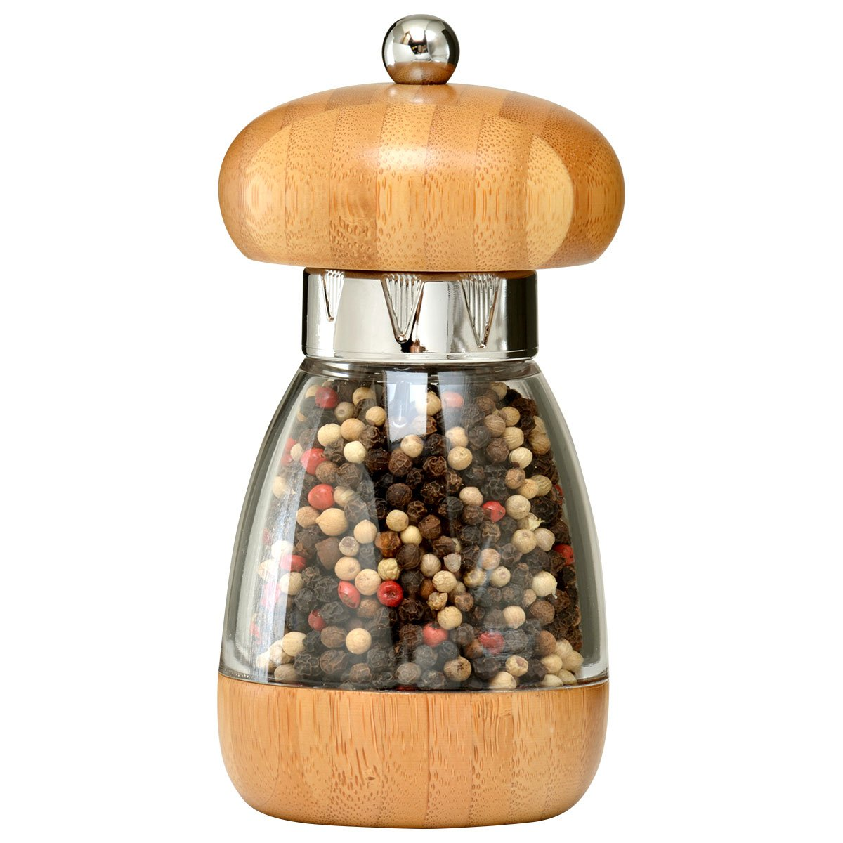 William Bounds 00137 Mushroom Mill - Pepper Grinder - Bamboo and Acrylic