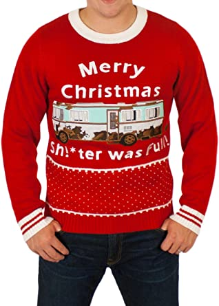 e2427358b7b Christmas Vacation  Sh!ter was Full!  Sweater in Red By Festified ...