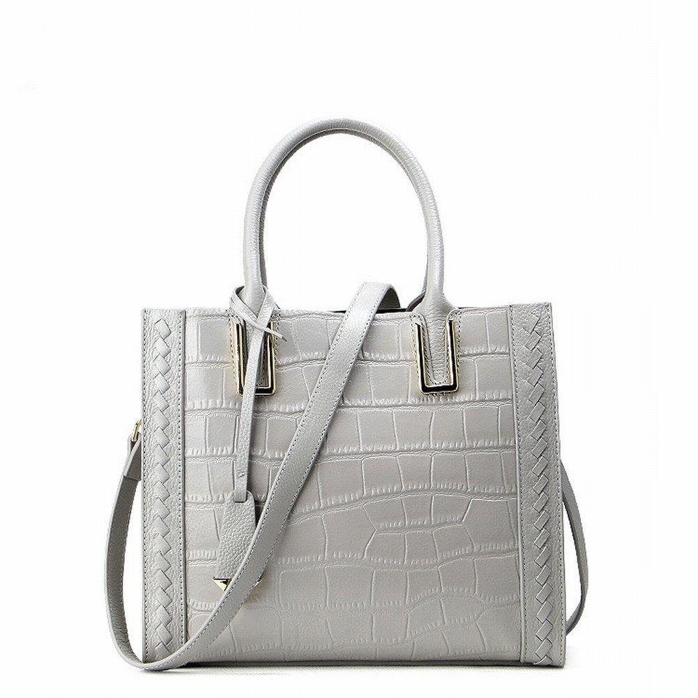 Fashion Handtaschen Krokodilmuster Leder Schulter Diagonal Handtasche Handtasche Fabrik , grau