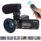 Camera Camcorder Kimire HD 1080P 16X Powerful Digital Zoom Video Camera with Microphone and Wide Angle