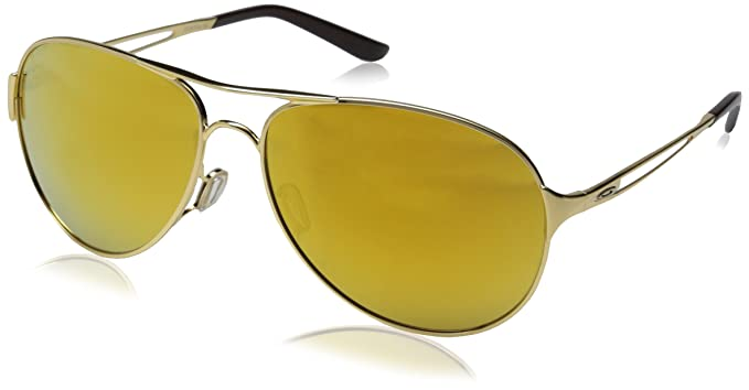 gold oakleys irfu  Oakley Women's Caveat Aviator Eyeglasses,Polished Gold/24K Iridium,60 mm