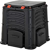 Outsunny 105 Gallon / 400L Organic Waste Garden Compost Bin - Black