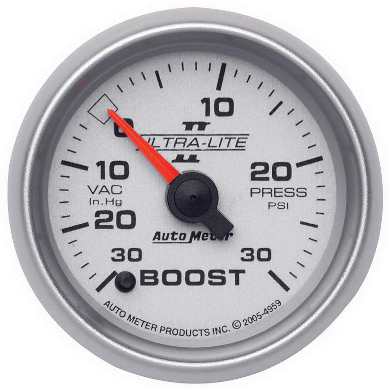 Auto Meter 4959 Ultra-Lite II 2-1/16' 30 in. Hg/30 PSI Full Sweep Electric Vacuum/Boost Gauge