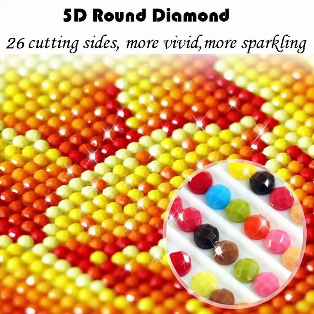 Grace Painter 5D Diamond Painting,Counted Cross Stitch,Rhinestone Painting,American Flag,Paint by Numbers for Kids Art and Craft for Wall Decor,Home Decor by Grace Painter (Image #6)